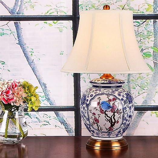 Lámpara de cabecera de Estilo Mesa de Chino Dormitorio LWR sotCBQhrxd