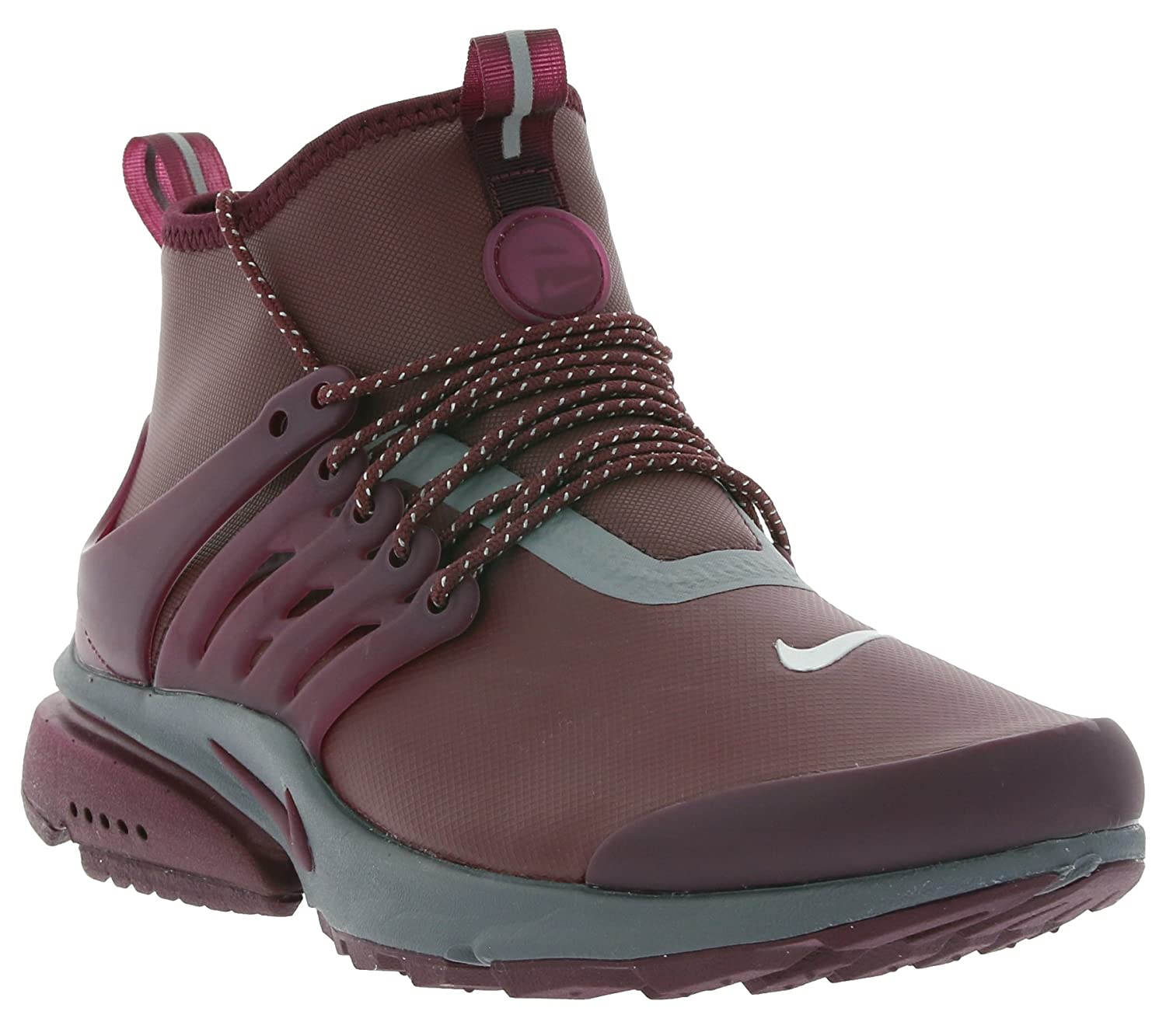 newest 9a9d1 f3c98 Nike Womens Air Presto Mid Utility Hi Top Trainers 859527 Sneakers Shoes  (UK 4.5 US 7 EU 38, Night Maroon 600)  Amazon.in  Shoes   Handbags