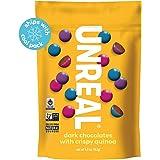 UNREAL Dark Chocolate Crispy Quinoa Gems | Non-GMO, Vegan Certified, Colors from Nature | 6 Bags