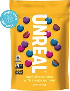 product image for UNREAL Dark Chocolate Crispy Quinoa Gems | Non-GMO, Vegan Certified, Colors from Nature | 6 Bags