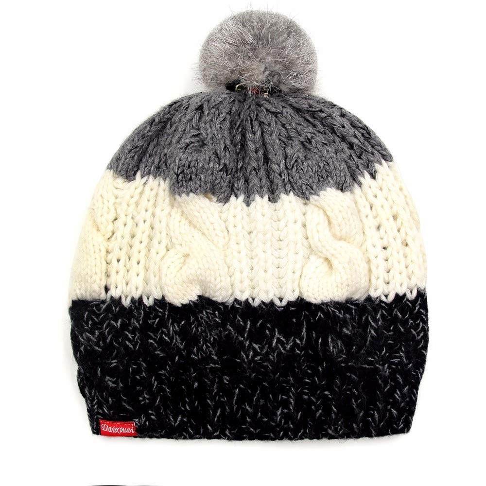LIUXINDA-MZ Hat Female Winter Wool hat with Thick Warm Beret