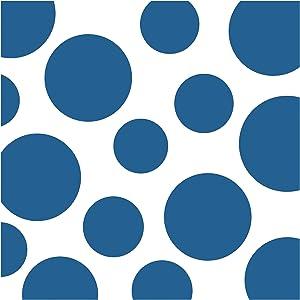 Creative Converting Celebrations 16 Count Chevron and Polka Dots Beverage Napkins, True Blue