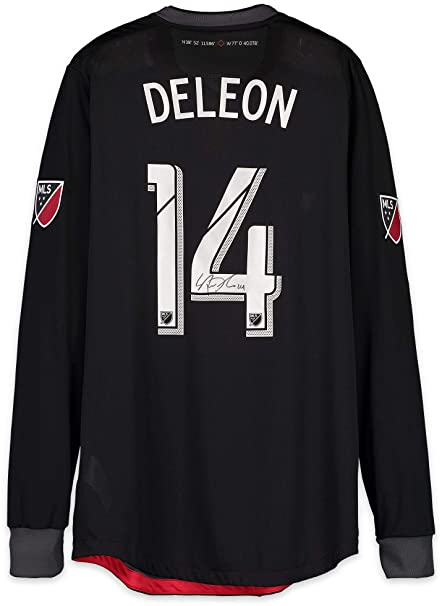 best cheap a8ea1 2f6d9 Nick DeLeon D.C. United Autographed Match-Used Black #14 ...