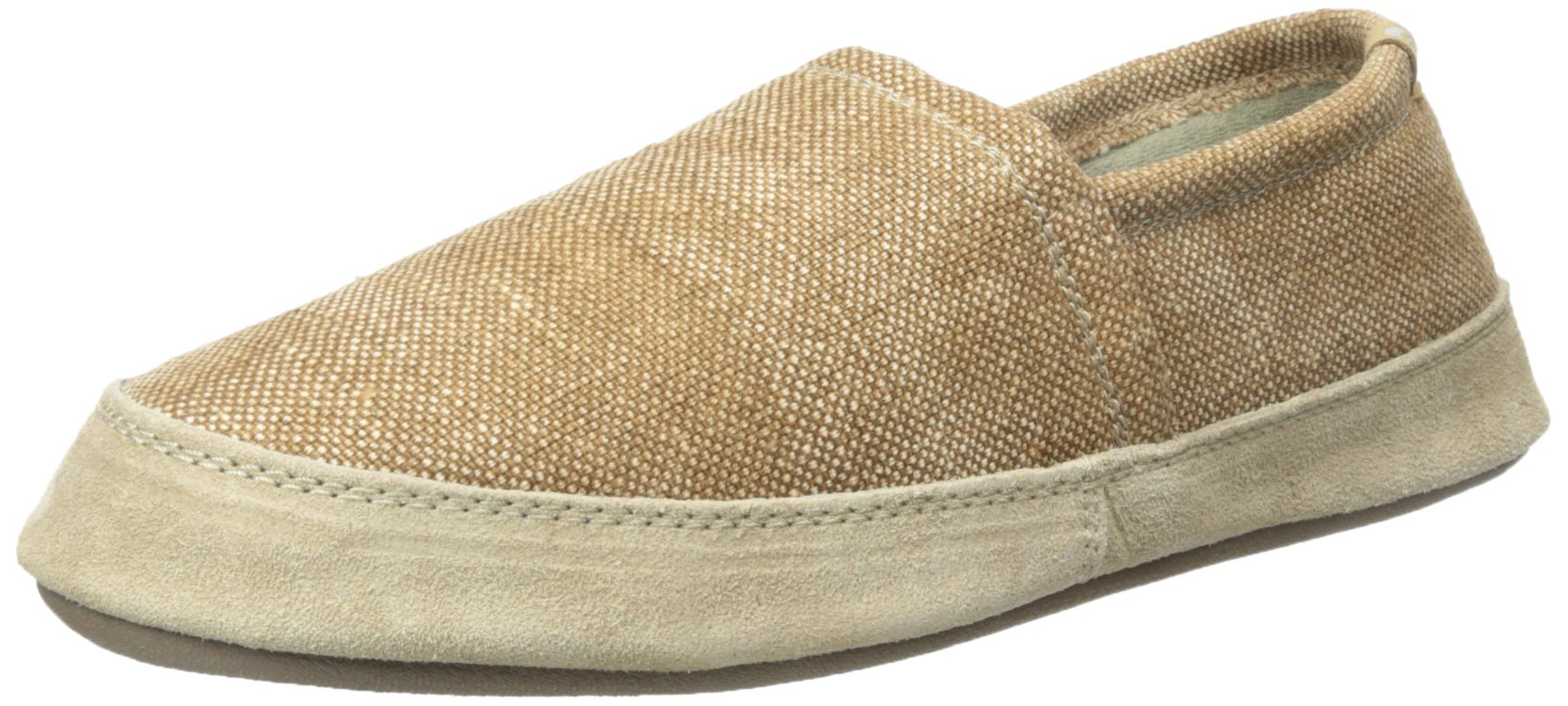 Acorn Men's Summerweight Moc Slipper, Toast Canvas, Medium/9-10 M US by Acorn