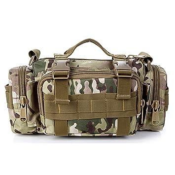Yihya Unisex Militar Táctico Mochila Asalto Táctico Utilidad Excursionismo Paquete de Cintura Bolsa Militar Campo Bolsa para Hombre y Mujer Deportes ...