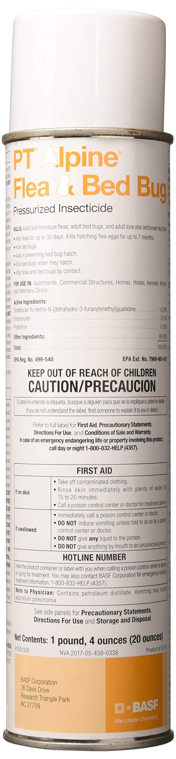PT Alpine Flea & Bed Bug Pressurized Insecticide - 20 oz. by Alpine Innovations