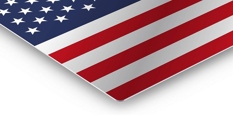 Smile Art Design American Flag Glossy Metal Wall Art Metal Print United States Wall Decor USA Flag Home Decor-/%100 Made in The USA 16x24