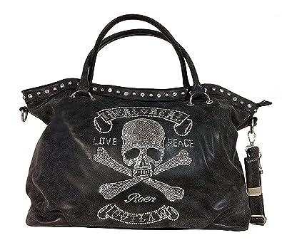 358fb34d2fc4c TOTENKOPF skull Hand Tasche Schultertasche Umhängetasche Beuteltasche  Shopper XL (Khaki (verwaschen))  Amazon.de  Schuhe   Handtaschen