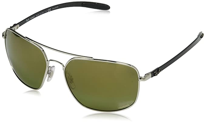 Ray-Ban 0RB8322CH Gafas de sol, Silver, 62 para Hombre: Amazon.es ...