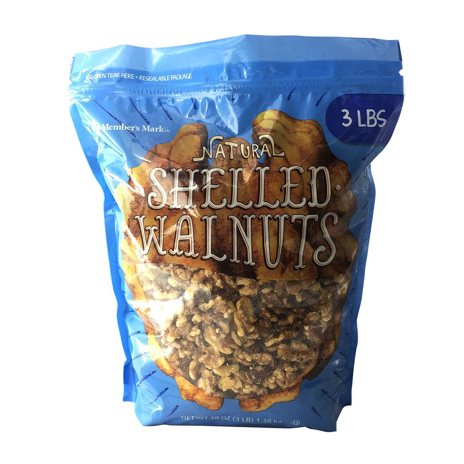 Member's Mark Shelled Walnuts (3 lb.) (pack of 6)