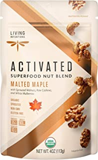 product image for Living Intentions Sprouted Organic Nut Blend– Malted Maple– NonGMO – Gluten Free – Vegan Paleo – 4 Ounce Unit