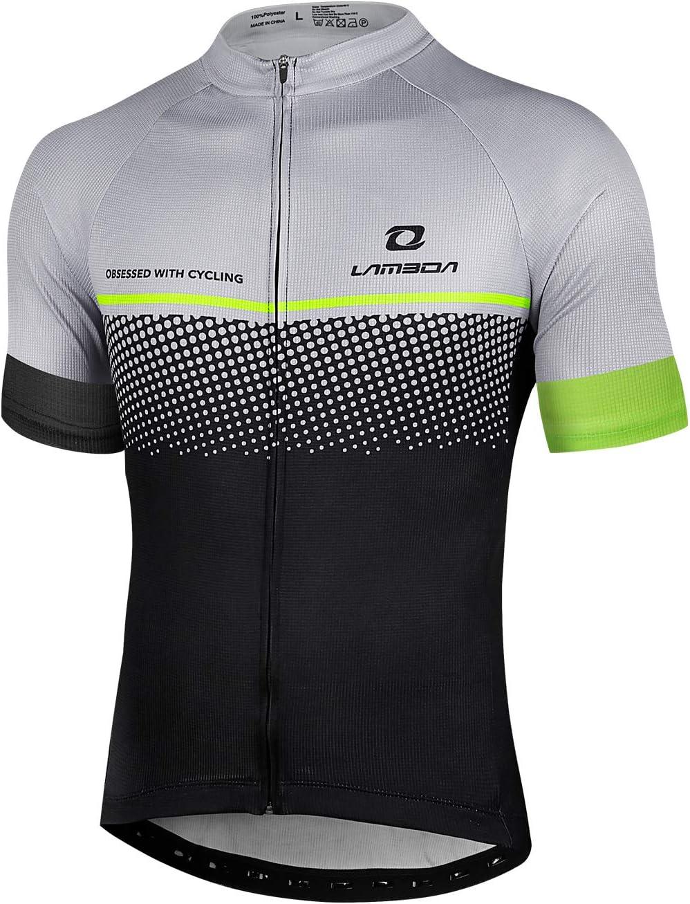 LAMEDA Maillot Ciclismo Hombre Ropa Camiseta Bicicleta MTB con Mangas Cortas: Amazon.es: Deportes y aire libre