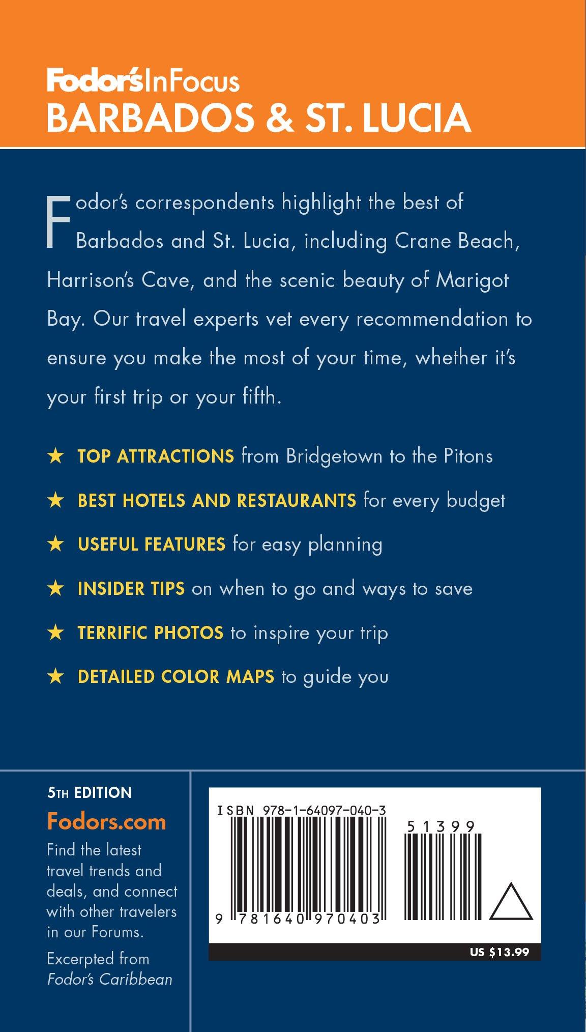 Fodor's In Focus Barbados & St. Lucia (Full-color Travel Guide): Fodor's  Travel Guides: 9781640970403: Amazon.com: Books