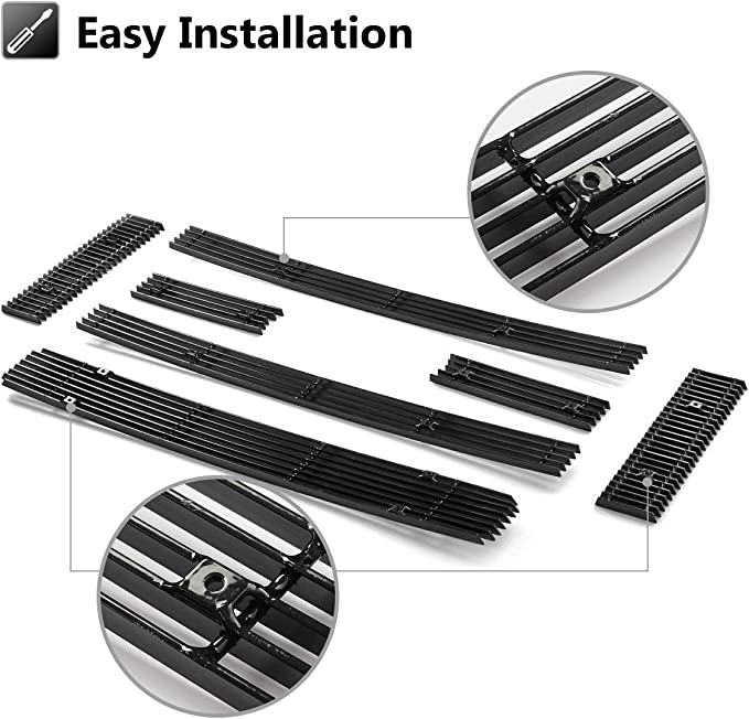 APS Compatible with 2008-2014 Ford Econoline Van E-Series Billet Grille Grill Insert Combo F61018A