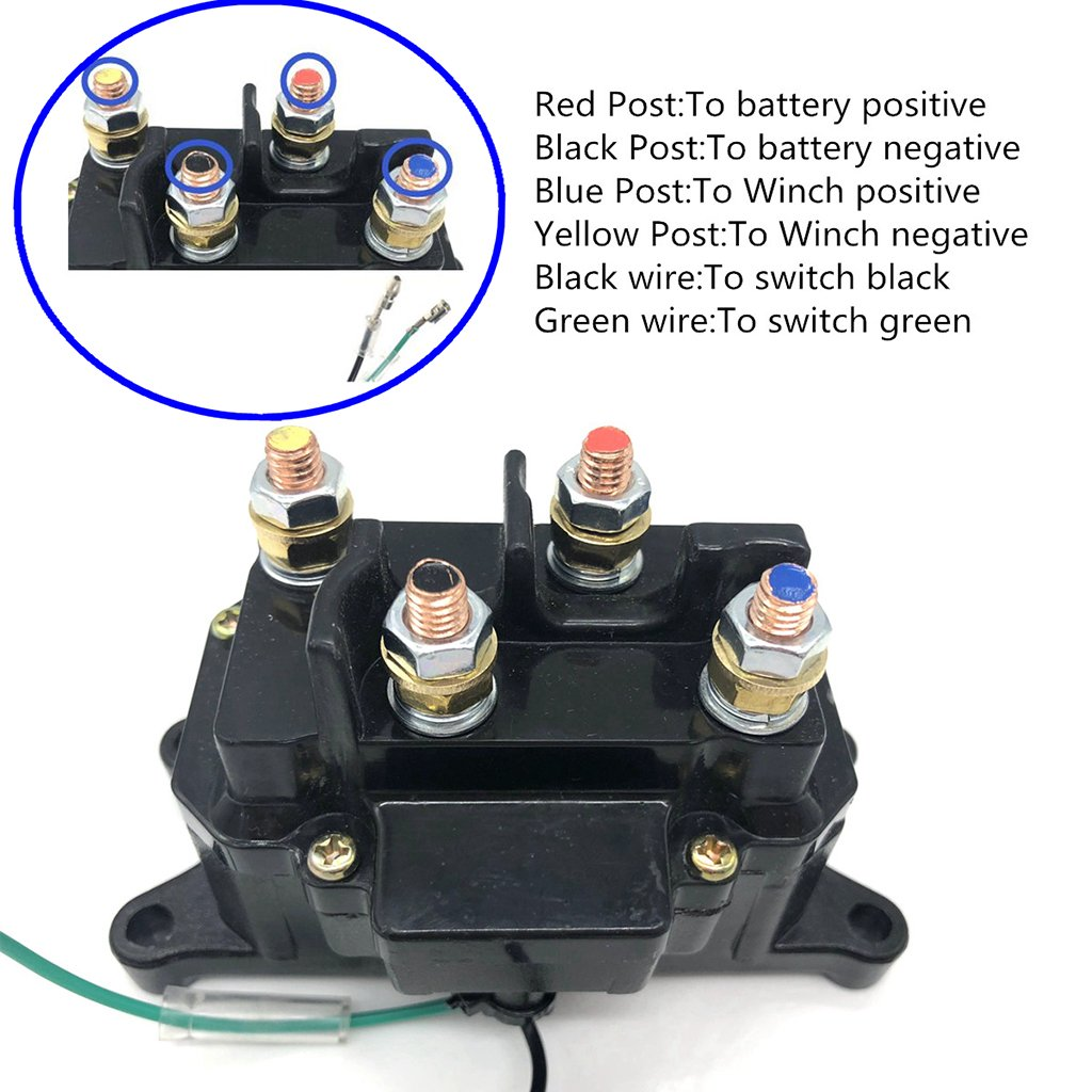 Universal Solenoid Relay Contactor Winch Rocker Thumb Switch for ATV UTV