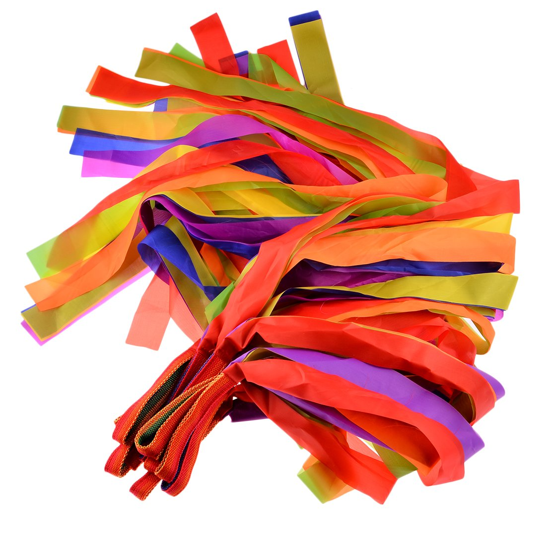 Rhythm Ribbon Dance, WOLFBUSH 12Pcs Hand Held Dance Rainbow Ribbons Set for Kids Children - Color Random