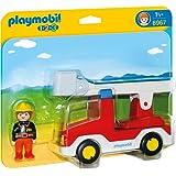 Playmobil 1.2.3. - 6967 - Camion de pompier avec échelle pivotante
