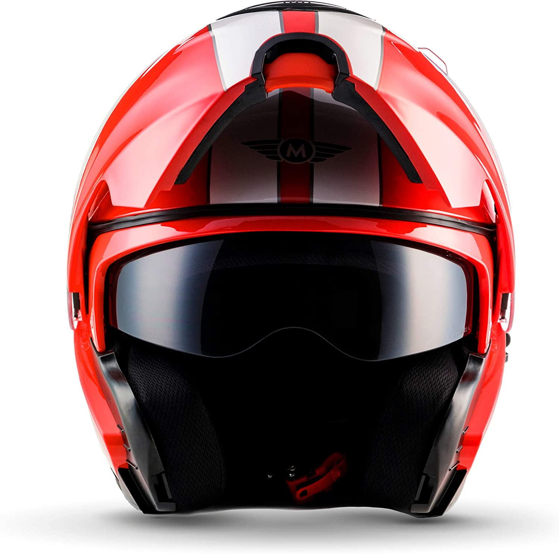 "53-54cm MOTO Helmets/® F19 /""Racing Black/"" /· Casque /· de Moto Modulable Flip-Up Modular Integral Helmet Urban Scooter Cruiser Femme Homme /· ECE 22.05 Sun Visor Click-n-Secure Sac XS"