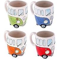 Set of 4 Camper Van Mugs, Hand Painted