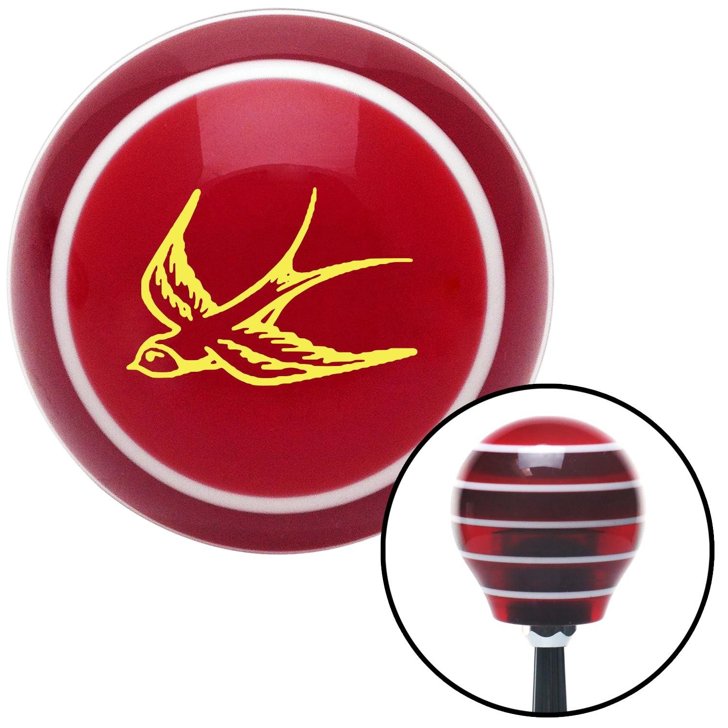 Yellow Swallow American Shifter 111813 Red Stripe Shift Knob with M16 x 1.5 Insert