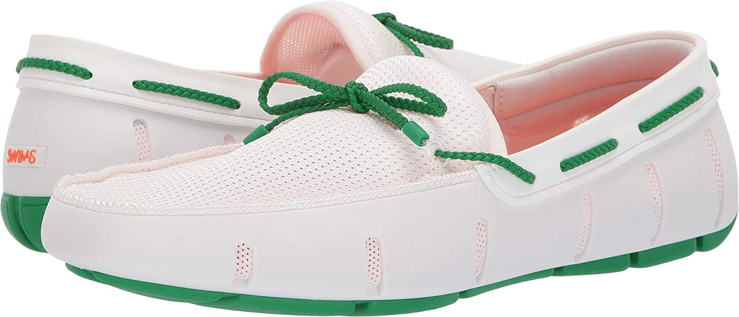 White Jolly Green Swims Braided Lace Loafer