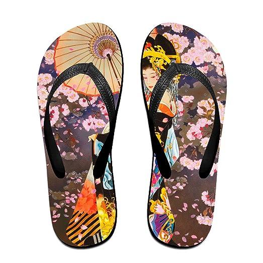 Unisex V Flip Flops Japanese Geisha Girl Pink Dress Personalized Summer Slipper