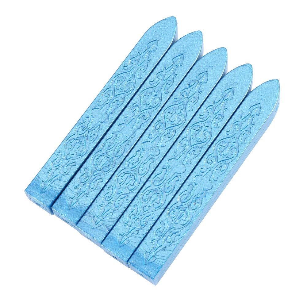 5 Pieces/Set Sealing Wax Stick, Manuscript Craft Envelope Letter DIY Sealing Wax Stamp Invitation Letter Sealing Melting Wax Rod(Purple) GLOGLOW