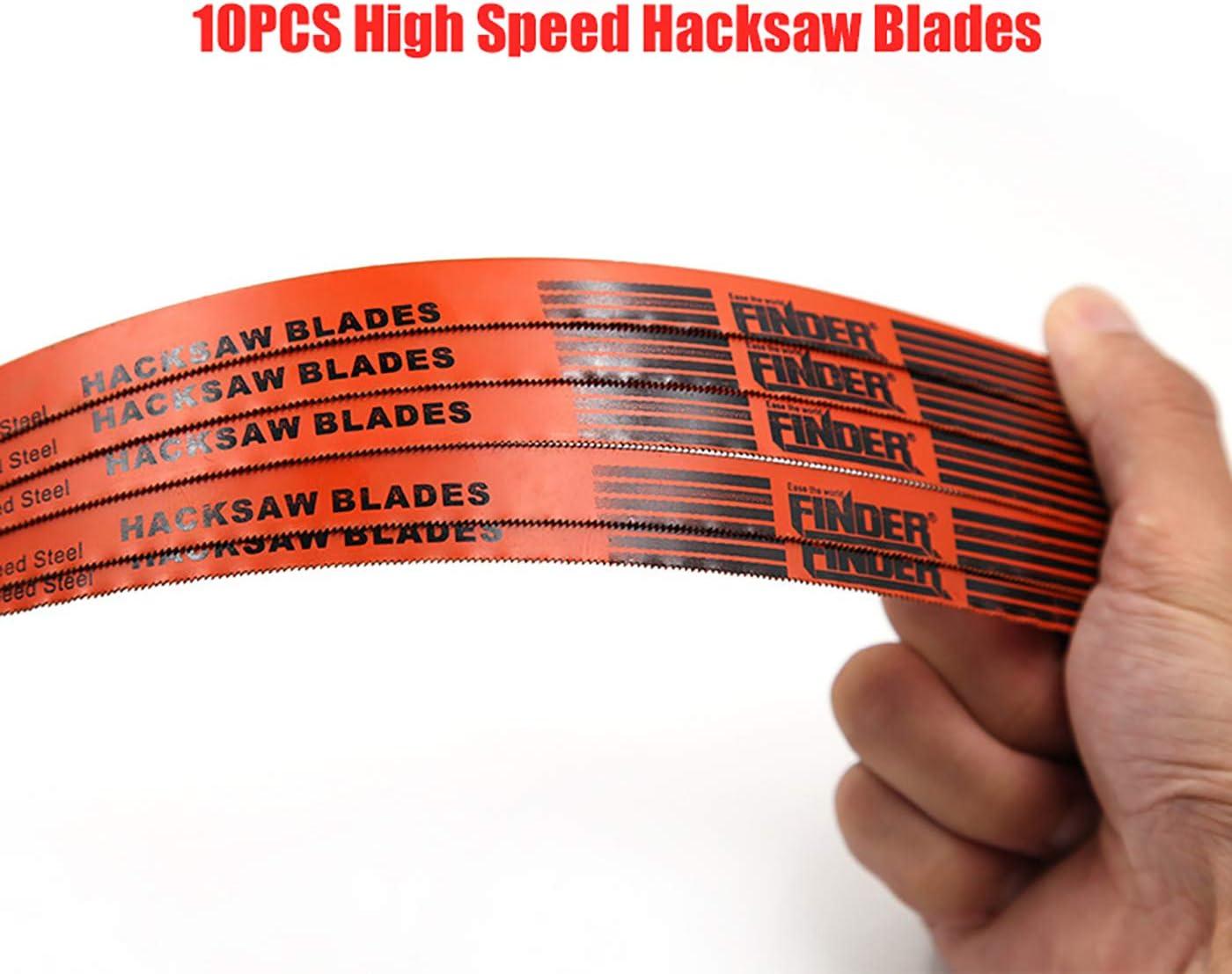 naranja juego de 10 cuchillas de repuesto a prueba de roturas. Hoja de sierra de mano bimet/álica 24 TPI de 30 mm