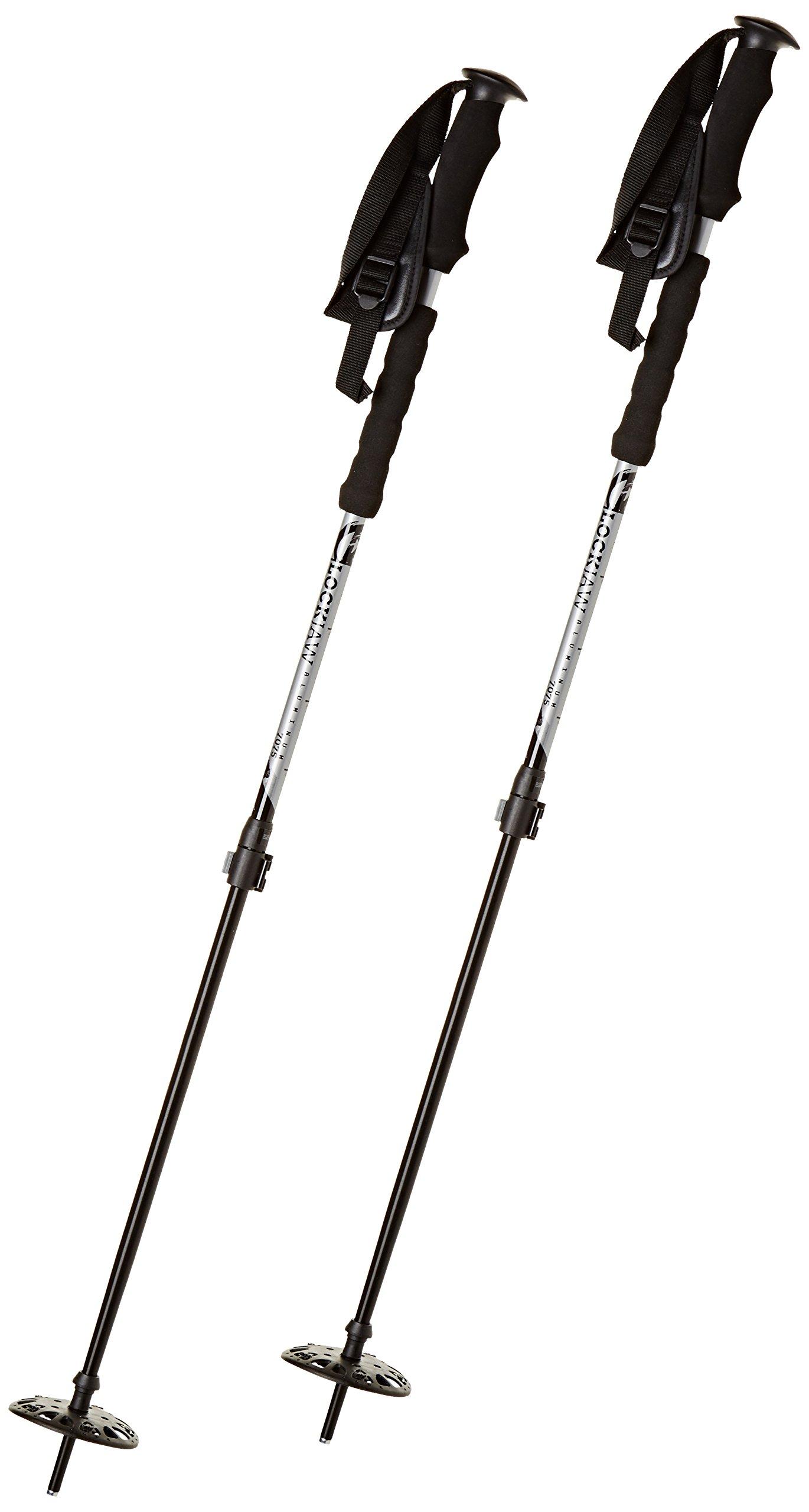K2 Lock Jaw Alu eva 145 Adj Ski Pole 2016 - Silver 58 by K2