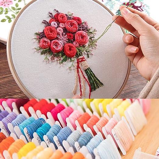 GuoFa hilo de bordar 80 madejas de algodón colorido pulsera cuerdas DIY Craft punto de cruz Floss Set con organizador caja de almacenamiento para pulseras de la amistad: Amazon.es: Hogar