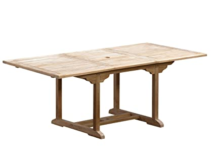 Trendy Home24 Table Rectangulaire à Rallonge Teck Massif Bois Massif