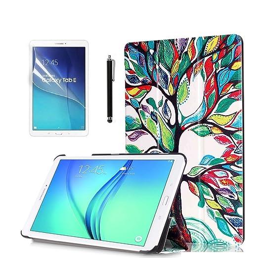 167 opinioni per Samsung Galaxy Tab E 9.6'' Custodia,Ultra Slim Custodia in Pelle Flip Case Smart