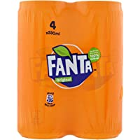 Fanta Orange Slim lattina 330 ml - 4 lattine