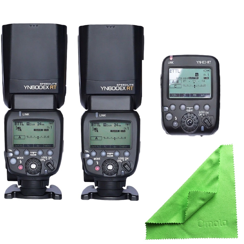 Yongnuo yn600ex-rt yn600-ex-rt自動TTL HSSフラッシュスピードライトCanonとしてのラジオスレーブCanonと同じ600ex-rt  2PcsYn600ex-rt+1Pcs Yn-e3-rt B00X96UMGY