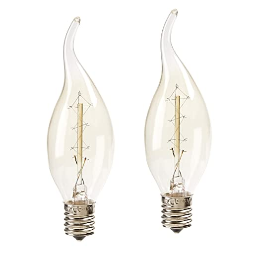 Amazon.com: Cleveland Vintage Lighting CLV120 7W E17 Edison Flame Bulb (2 Piece): Home & Kitchen
