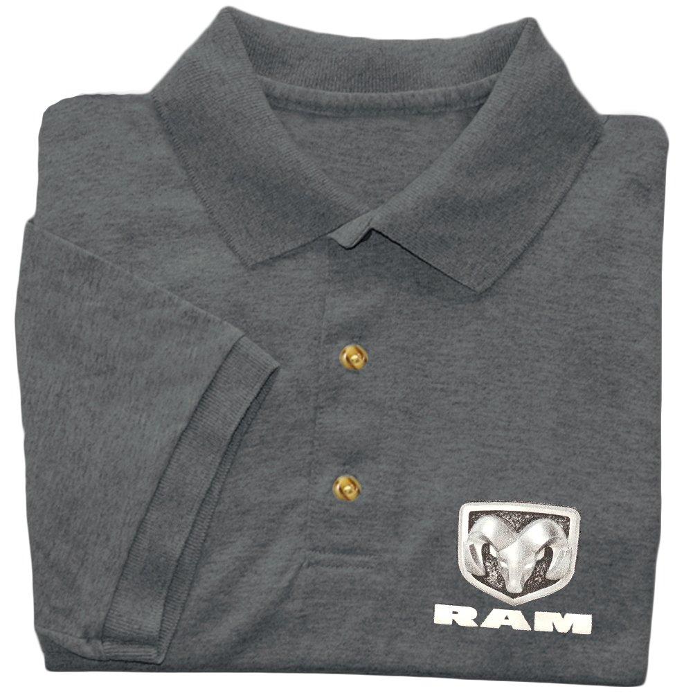 Amazon Dodge Polo Shirt For Men Dark Gray Ram Hemi Clothing