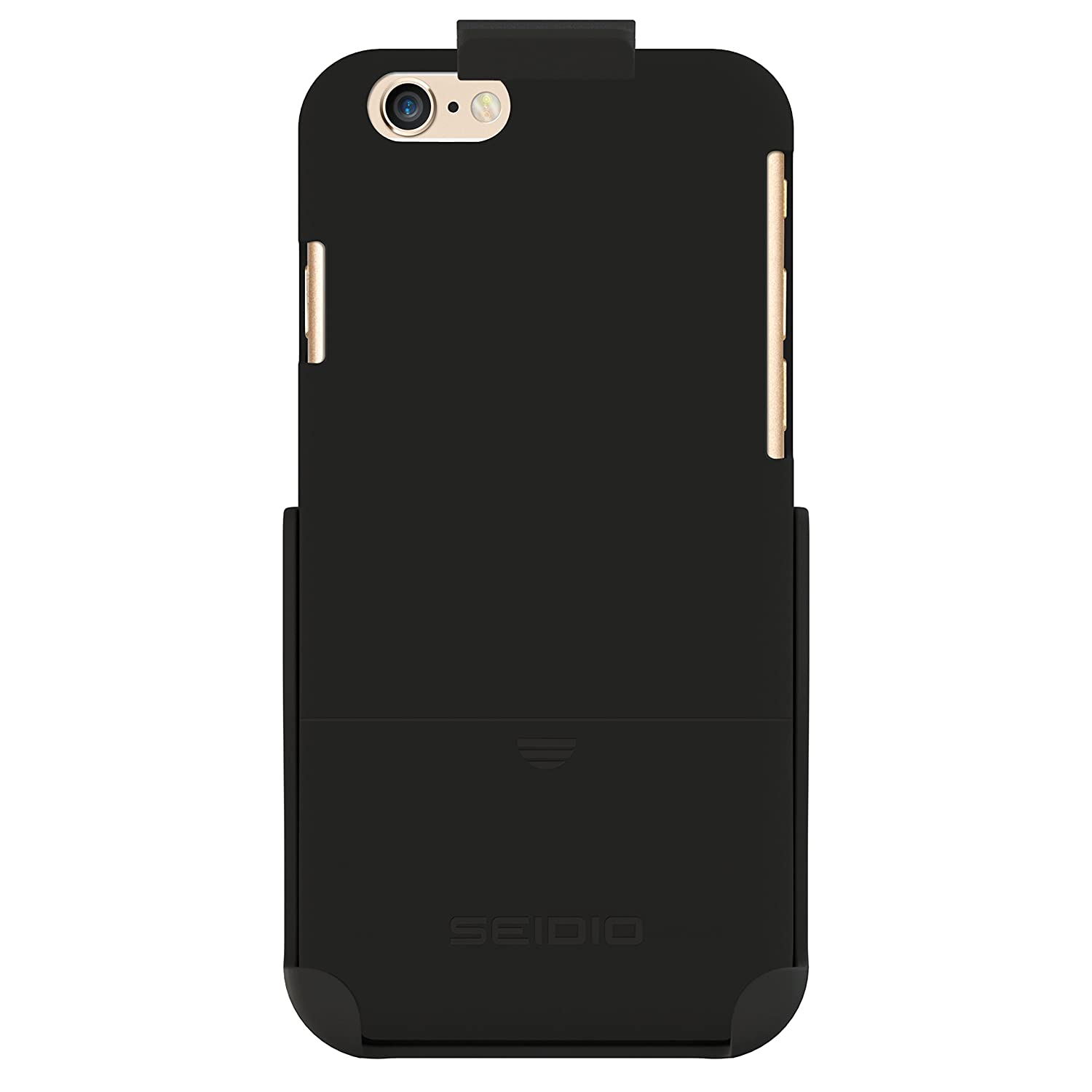 Seidio SURFACE Case & Belt-Clip Holster for iPhone 6 ONLY [Slim Protection] - Retail Packaging - Black