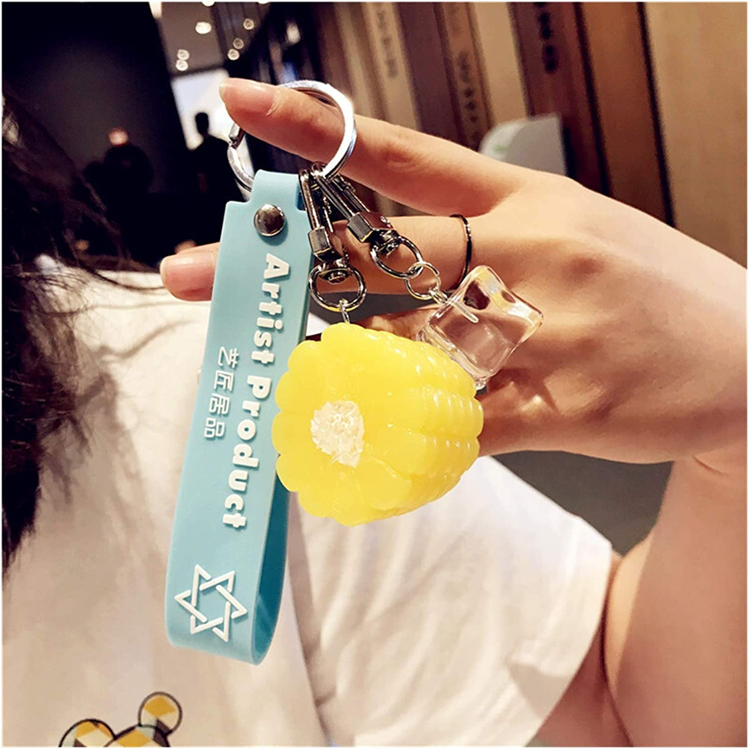 Muchengy Keyring Imitation Food Keychain French Fries Chicken Nuggets Fried Chicken Leg Food Pendant Children's Toy (Color : 3)