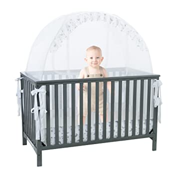 Amazon.com : Baby Crib Safety Pop up Tent: Premium Baby Bed Canopy on