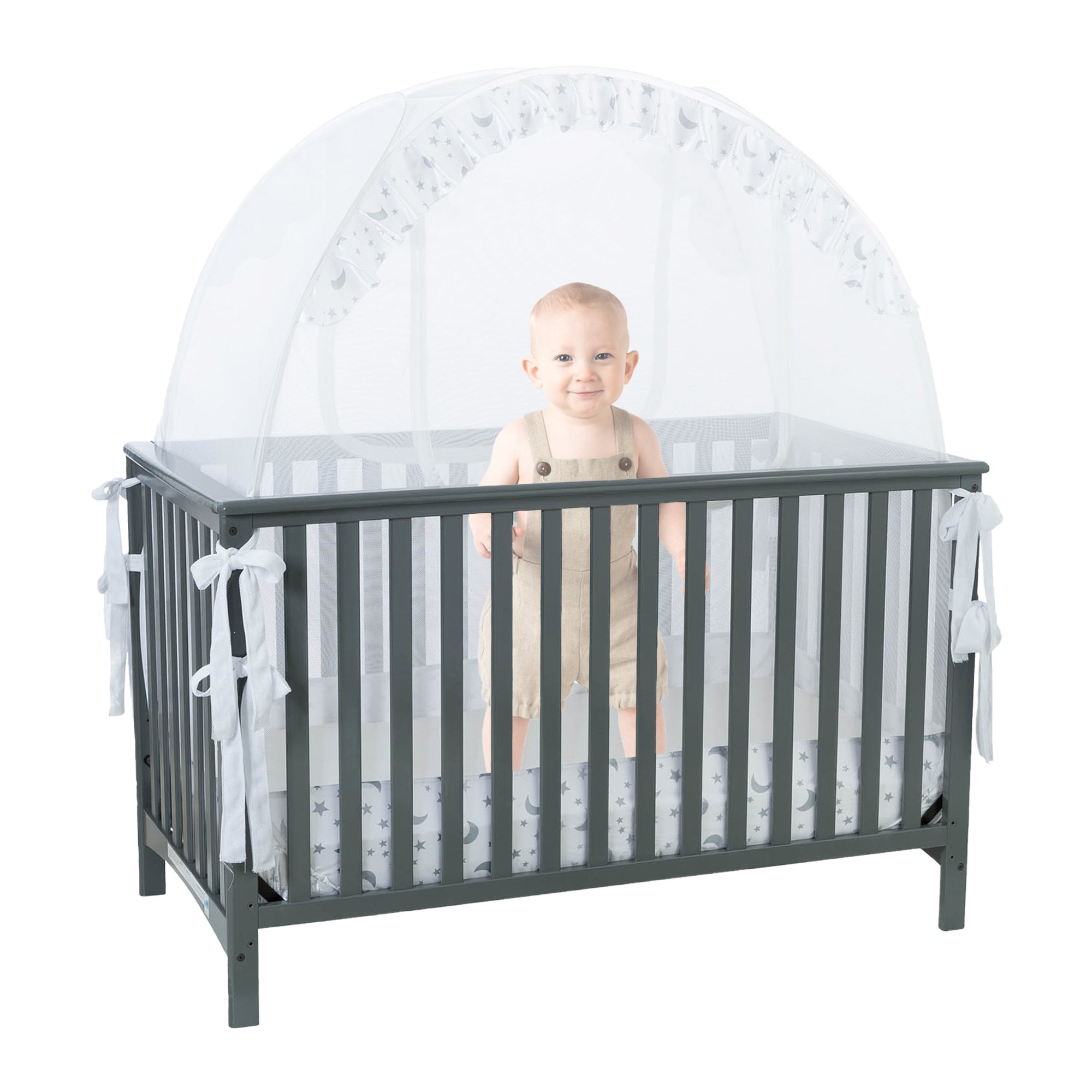 Baby Canopy For Crib: Amazon.com : Baby Crib Tent Safety Net Pop Up Canopy Cover