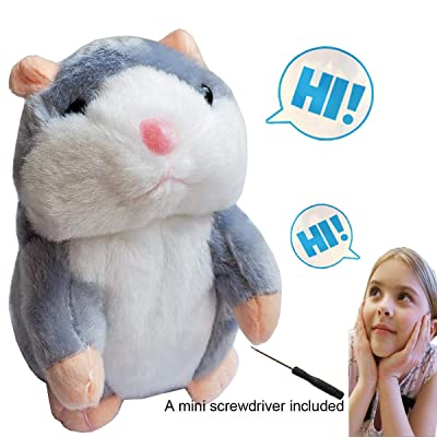 Himeeu Pet Talking Hamster Toy Animal Talking Toys Repeats What You Say Interactive Plush Toys for Boys and Girls: Toys & Games