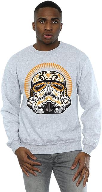 Star Wars Hombre Stormtrooper Dia De Los Muertos Camisa De Entrenamiento XXX-Large Gris Sport: Amazon.es: Ropa y accesorios