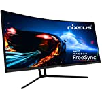 "Nixeus EDG 34"" Ultrawide 3440 x 1440 AMD Radeon FreeSync Certified 144Hz 1500R Curved Gaming Monitor with Tilt Only Stand"