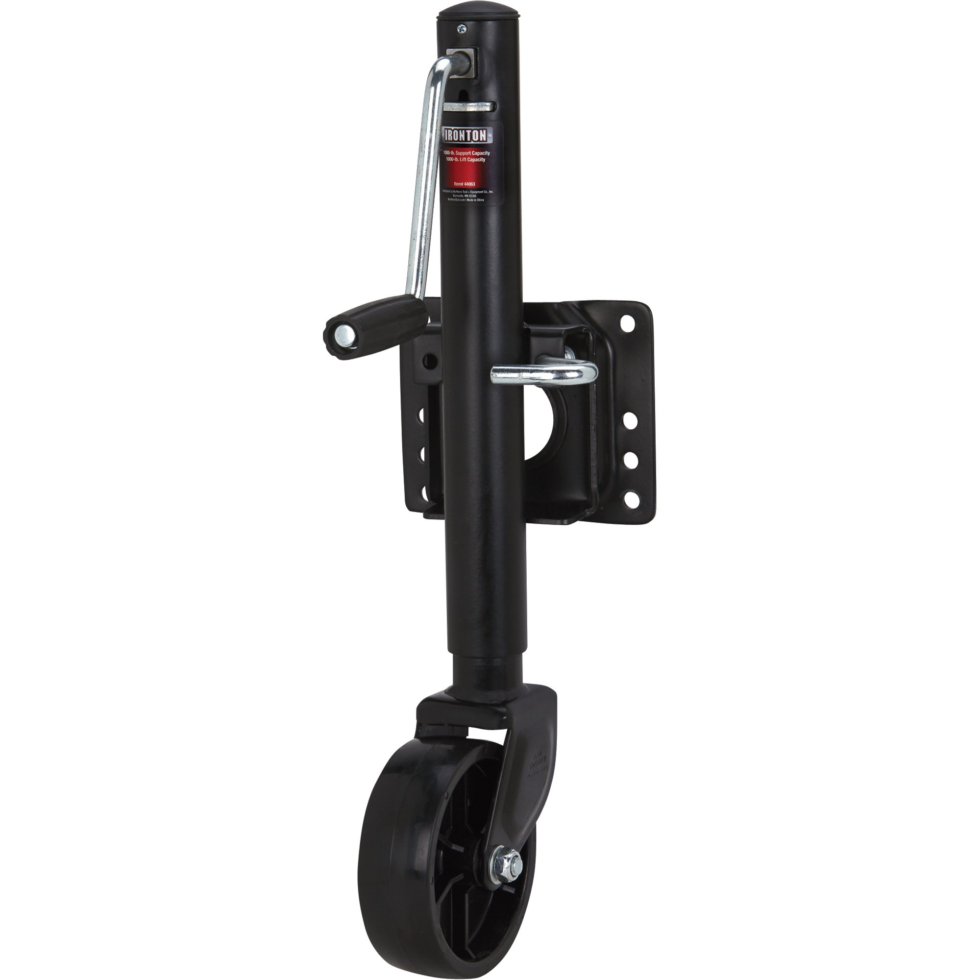 Ironton Bolt-On Side-Wind Marine Swivel Jack - 1,000 Lb. Capacity, Black Finish by Ironton (Image #2)