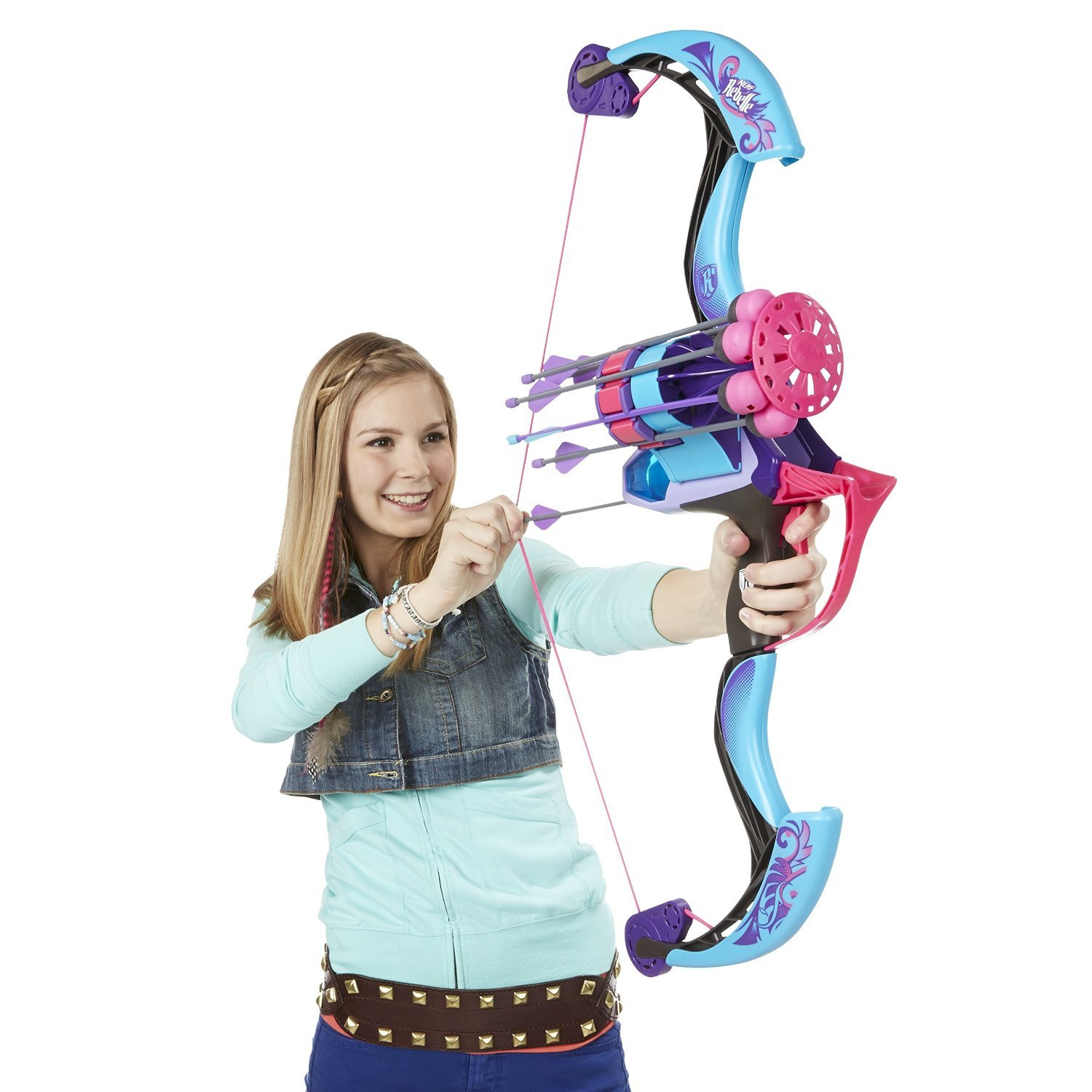 Amazon Nerf Rebelle Secrets and Spies Arrow Revolution Bow Blaster Toy Toys & Games