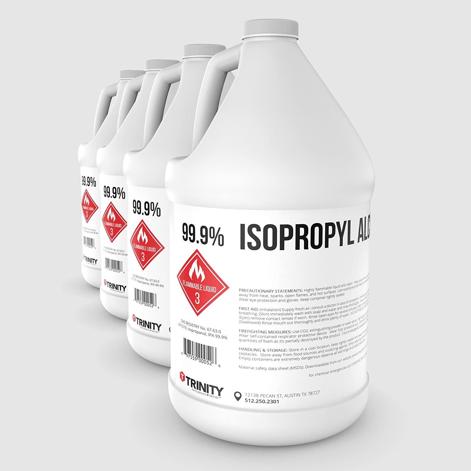 Isopropyl Alcohol 99 5% and Isopropyl Alcohol 99 9% - A Laboratory-Grade  Superior Solvent + Anhydrous Liquid Cleaner | Available in 1 Quart, 16