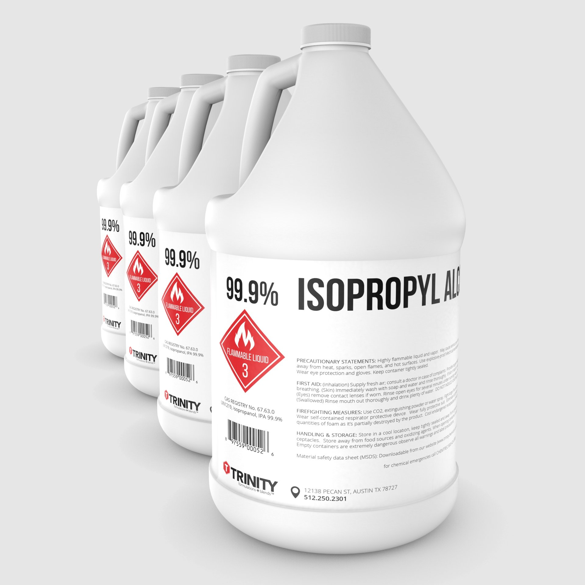 Isopropyl Alcohol 99.9% aka Isopropanol Alcohol 99.9% - A Laboratory-Grade Superior Solvent + Anhydrous Liquid Cleaner | 4 Gallons (3785 mL)