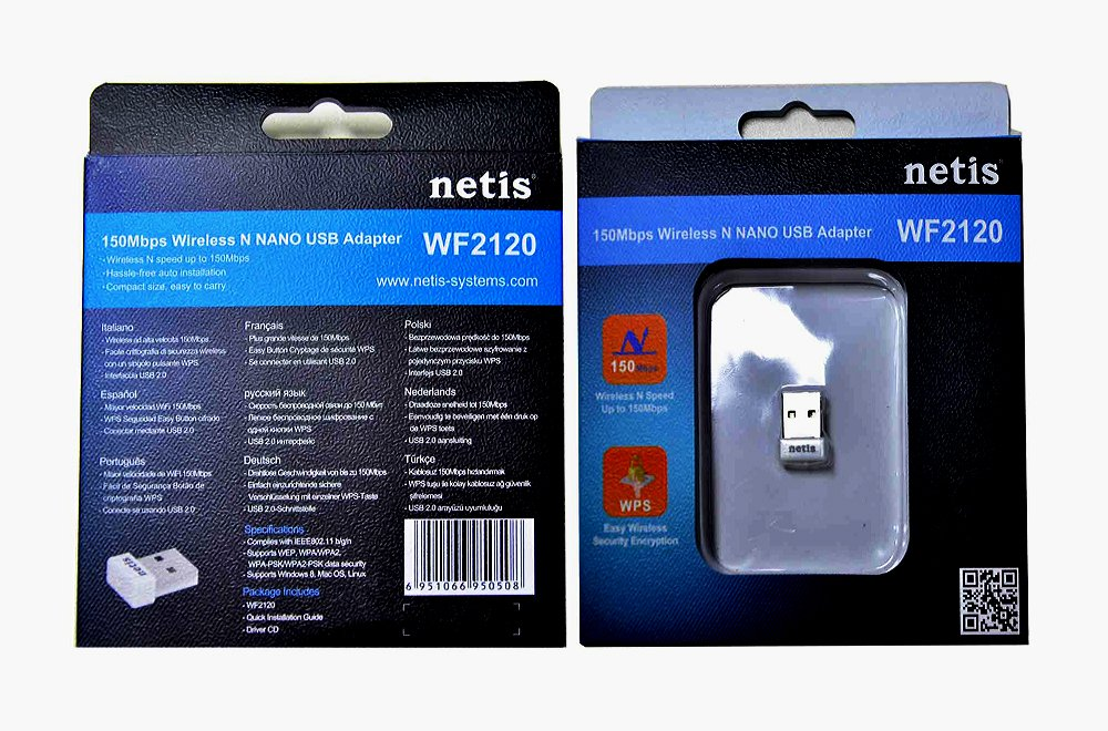 Netis WF2120 Wireless N150 Nano USB Dongle, Ideal for Raspberry, Windows, Mac OS, Linux, RTL8188CUS, Plug in and Forget by Netis (Image #3)