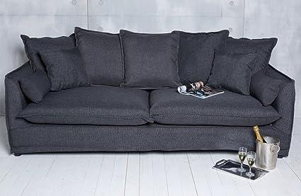 Sofá con cojín (Negro Grafito Modern sofá Muebles tapizados ...