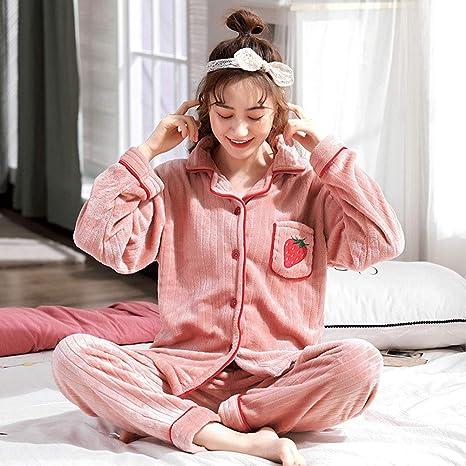 Zxsky Pijamas De Mujer Trajes Ocio Cómodo Estampado De Fresa ...